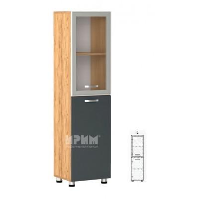 Офис модул 33 ляв/ витрина с алуминиев профил