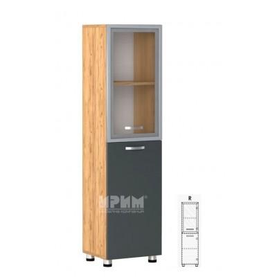 Офис модул 34 десен/ витрина с МДФ профил