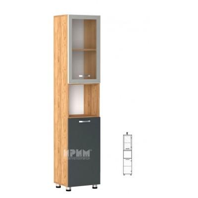 Офис модул 61 десен/ витрина с алуминиев профил