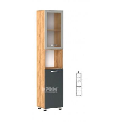 Офис модул 62 ляв/ витрина с алуминиев профил