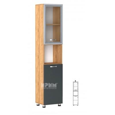 Офис модул 63 десен/ витрина с МДФ профил