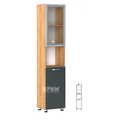 Офис модул 64 ляв/ витрина с МДФ профил