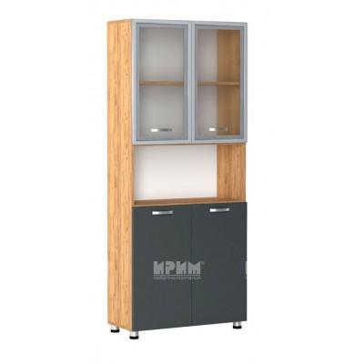 Офис модул 73 витрина с МДФ профил