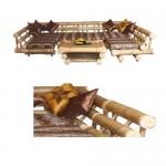Комплект от бамбук 101 Мави