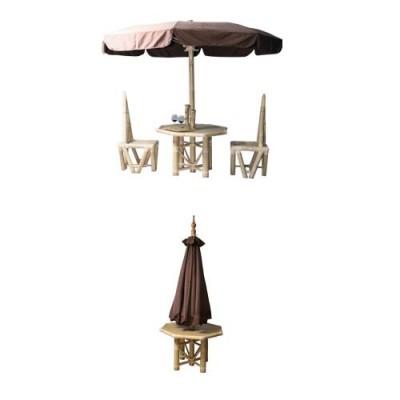 190 Маса с чадър от бамбук