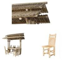 157 Маса с покрив от бамбук