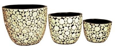 15130 Керам ваза ниска пънчета