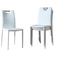 Бял стол кожа/метал К 225