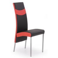 Стол еко кожа в черно и бяло и метал К51