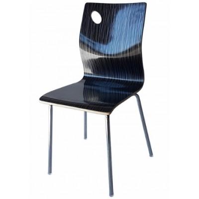 Трапезен стол 8119А черно райе
