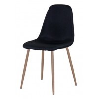 Трапезен стол AM-A-293B черен текстил/сонома крака