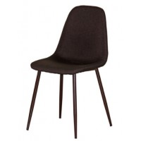 Трапезен стол AM-A-293B кафяв текстил/орех крака