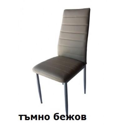 Трапезен стол W 68 кожена дамаска