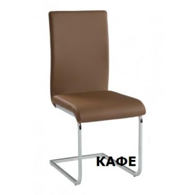 Стол за хранене еко кожа с извити крака Carmen 373