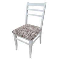 Бял трапезен стол Ина