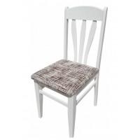 Бял трапезен стол Лале
