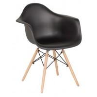 Трапезен стол 9959 - бял и черен