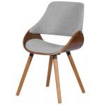 Трапезен стол Carmen 9973 - орех/ сив